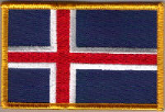 Iceland Embroidered Flag Patch, style 08.